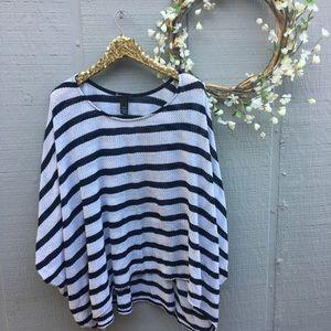 Lane Bryant striped dolman sleeve top. Size 22/24.